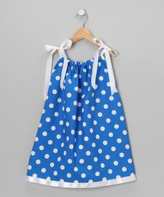 Look what I found on #zulily! Cozy Bug Royal Blue & White Polka Dot Swing Dress - Infant, Toddler & Girls by Cozy Bug #zulilyfinds