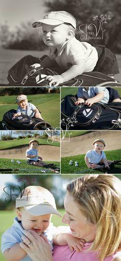 baby golf photos