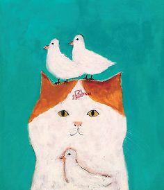 Japanese Artist Pepe Shimada Lovely Cat Illustration Art Book(chinese Edition)