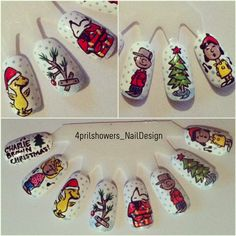 my Charlie Brown Christmas nails! 4prilshowersnaildesign.tumblr.com