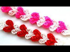 ❤ Браслет СЕРДЦА из резинок RAINBOW LOOM ❤ Как плести браслет с сердечками ❤ Heart Bracelet - YouTube