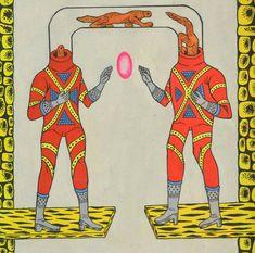 Motohiro Hayakawa's fantastic space-scape battles Yellow Submarine Art, Graphic Design Illustration, Illustration Art, Enter The Dragon, Image Fun, Vintage Comics, Illustrations And Posters, Color Theory, Art Inspo
