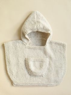 Free pattern from lion brand: Hooded Baby Poncho