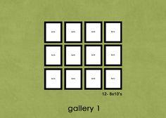 12- 8x10's
