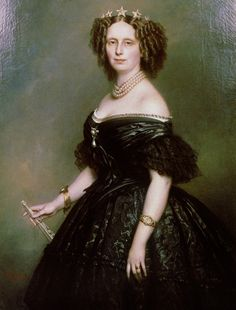 Queen Sophie of the Netherlands. She was buried in her wedding dress because she said her life ended the day she got married.
