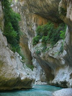 Les gorges du Verdon - part of the rugged landscape of Provence in France