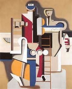 In 1920 Willi Baumeister completed his art studies, worked as an independent artist, & participated in exhibitions in Berlin, Dresden, and Hagen. His popularity and recognition abroad became evident in a joint exhibition with Fernand Léger in the Berlin gallery Der Sturm in 1922. During these years, Baumeister developed professional relationships with artists such as Paul Klee, Léger, Le Corbusier, Amédée Ozenfant, and Michel Seuphor.  This definitely shows the influence of Leger & Le…