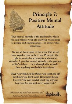 Think and Grow Rich - Napolean Hill - Principle 7 - Positive Mental Attitude