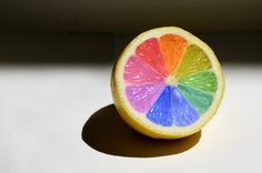 Lemon Colour Wheel Shot in my kitchen - colours added in Photoshop.<br> Shot in my kitchen - colours added in Photoshop. 12 Color Wheel, Color Terciario, Color Wheel Projects, Taste The Rainbow, Learn Art, Creative Colour, Middle School Art, Creative Thinking, Color Of Life