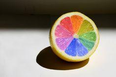 Lemon Color Wheel by Red Door Creative