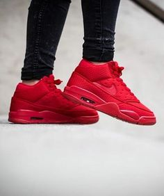 Nike Air Flight Classic  University Red Snicker Shoes f3fd1a87c