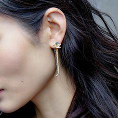 """Caressing Nature"" Diamond Drop Earrings - Plukka - Shop Fine Jewelry Online"