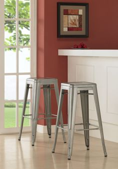 For lovers of design on a budget- An affordable alternative to the Tolix bar stool