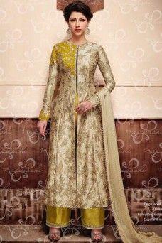 http://www.gebastore.com/salwar-kameez/collections/nakkashi-encore/beige-and-olive-indian-designer-party-wear-plazzo-salwar-suit-nakkashi-encore-11048.html #yellow #straightsuits #salwarkameez #shalwar #model #suits #dresses #salwarsuits #modelsuits #bridalwear #indianwomenfashion #ethnicwear #womenfashion #bridescollection #latestfashion #Straightcutsalwarsuits #Indianbridaloutfits #Fancysuiits #Suitsmaterial #latestfashion