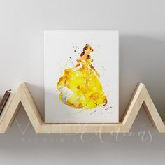 Belle, Beauty and the Beast Gallery Wrapped Canvas Canvas Artwork, Canvas Art Prints, Disney Paintings, Art Paintings, Belle Beauty And The Beast, Nursery Wall Art, Disney Art, Painted Rocks, Wrapped Canvas