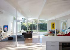 Projects | Klopf Architecture Atrium, Maison Eichler, Moderne Pools, Open House Plans, Residential Architect, Open Shelving, Great Rooms, Living Spaces, Living Room