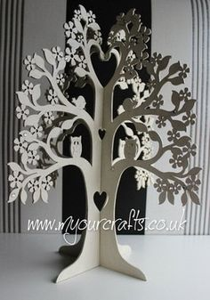 Large Wishing Tree.Jewelry Stand.Freestanding wooden Wedding wish 3-D lasercut plywood Centerpiece.Christening.Guestbook.Decoration.
