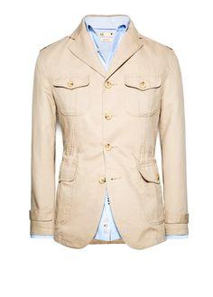 Mango H.E. linen cotton-blend safari blazer