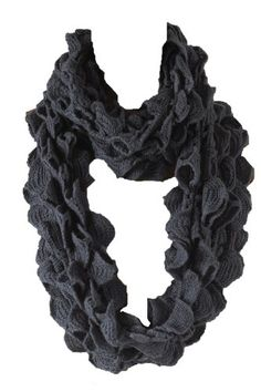 Fennco Ruffle Knit Infinity Loop Scarf - 3 Colors $21.99