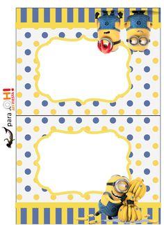 Película de los Minions: Etiquetas para Candy Bar para Imprimir Gratis.