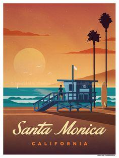Image of Santa Monica Poster