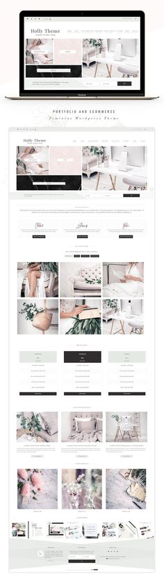 Portfolio eCommerce Genesis theme ho by Lovely Confetti on @creativemarket