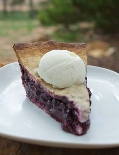 Food Hunter's Guide to Cuisine: Wild Blueberry Pie With Pecan Crust