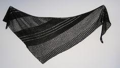 Antarktis by Janina Kallio (triangular, asymmetrical, textural stripes, mesh) I own a copy of this pattern