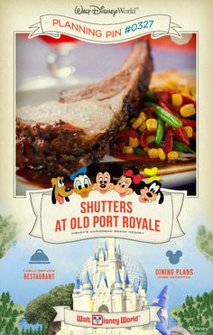 Walt Disney World Planning Pins: Shutters at Old Port Royale