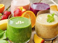There are so many variations to prepare smoothies. You can use almost all fruits or vegetables.In this 25 smoothie recipes article we are giving you the ingredients of 25 smoothies. They are for weight loss and detox, full organic and easy. Fruit Smoothies, Apple Smoothie Recipes, Healthy Smoothies, Cherry Smoothie, Super Healthy Recipes, Healthy Foods To Eat, Healthy Snacks, Stevia, Health Drinks Recipes