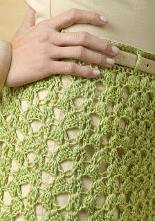 Fada do Crochet: SAIA CROCHET SOBREPOSTA