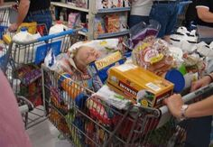 Shopping Cart Baby@Info for Families  Perfect place for a nap!