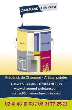 Cration De Carte Visite 55x85mm Chaurand Peinture