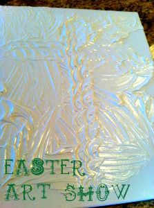 (great for Easter Weekend) An amazing family time activity to help your kids understand Jesus & His grace:  on Good Friday write sins in black marker on canvas.  Hang it up.  On Easter Sunday cover with white spackling.  Shows God's incredible grace