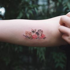 These tiny whimsical designs of your beloved pets are simple, stylish and elegant, capturing something significant and representative for you. Quite simply, they're tattoos of good taste.