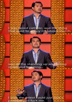 Jimmy Carr - so politically incorrect lol British Humor, British Comedy, Funny Memes, Hilarious, Funny Shit, Funny Stuff, Jimmy Carr, Atheist Humor, Losing My Religion