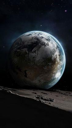 Docked Planet Wallpaper