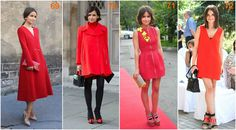 Miroslava Duma red Duffy, Miroslava Duma, Ikon, Dresses With Sleeves, Deep, Style Inspiration, Autumn, Colour, Long Sleeve