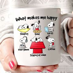 Snoopy!#affiliate Peanuts Cartoon, Peanuts Snoopy, Snoopy Gifts, Disney Cups, Snoopy Pictures, Charlie Brown And Snoopy, Cool Mugs, Snoopy And Woodstock, I Love Coffee