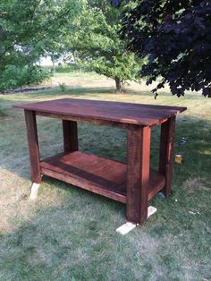 DIY kitchen island from barn wood