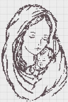 Mother and baby cross-stitch pattern ~ how beautiful this would be in an oval frame. this just speaks to me! Beaded Cross Stitch, Cross Stitch Baby, Cross Stitch Charts, Cross Stitch Designs, Cross Stitch Embroidery, Embroidery Patterns, Hand Embroidery, Cross Stitch Patterns, Loom Patterns