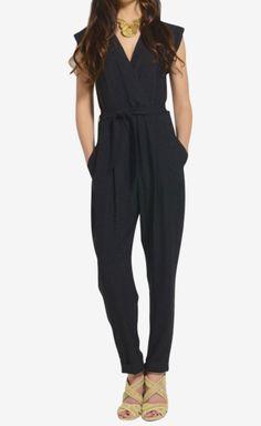 Theory Black Jumpsuit - cutest jumpsuit I've come across