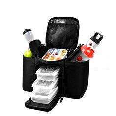 Six-pack-bags: Comes with 2 Gel Packs, 3 Snap Lid containers and ergonomic shoulder strap. Everything you need to travel fit™.  The biggest innovation in meal management for the fitness elite. Travel effortlessly with more than 3 meals, sports nutrition products and supplements.