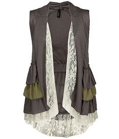 BKE Boutique Ruffle Vest - 's | Buckle