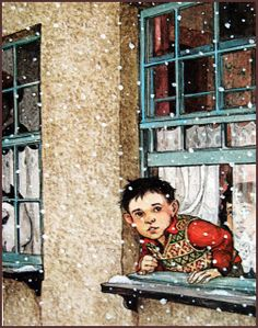 Illustration by Trina Schart Hyman Dylan Thomas: A Child's Christmas in Wales Dylan Thomas, Art And Illustration, Christmas Illustration, Book Illustrations, Noel Christmas, Christmas Books, Vintage Christmas, Christmas Windows, Xmas