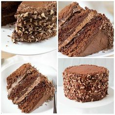 Sign me up for this Chocoholics Chocolate Mousse Cake!
