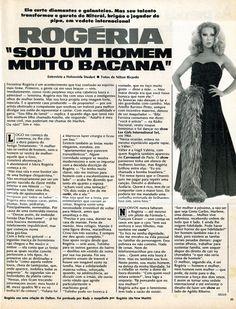 """""""Rogéria - sou um homem muito bacana"""" - entrevista de 1977 na revista """"Manchete"""" - página 2/3."""