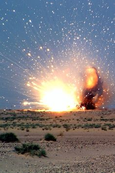 Even this explosion as destructive as it is. Can create a beautiful kind of atmosphere with the sparks in the sky.