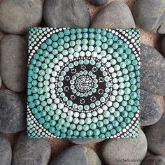 Dot Painting Aqua Aboriginal dot design by by RaechelSaunders