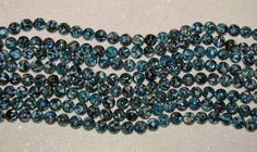 MOTHER OF PEARL-LOOSE BEADS-OCEAN BLUE-10 MM ROUND-15 COUNT-$3.99 | eBay